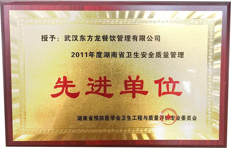 湖南省卫生安全质量管理先进单位